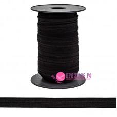 Бейка трикотажная, 20 мм, цвет черный
