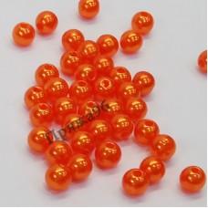 Бусины ярко-оранжевые, 6 мм