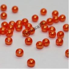 Бусины ярко-оранжевые, 8 мм