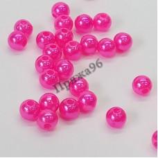 Бусины ярко-розовые, 6 мм