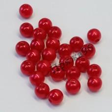Бусины красные, 8 мм