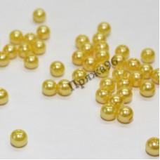 Бусины желтые, 8 мм