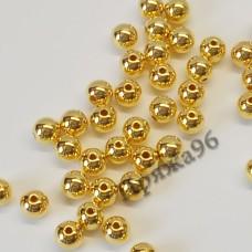 Бусины золотые, 8 мм