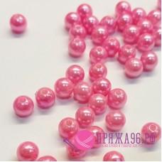 Бусины розовые, 8 мм
