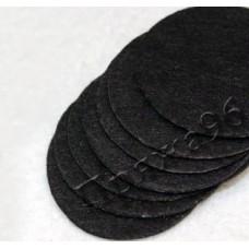 Кружки из фетра черные, 30 мм