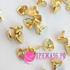 Брадсы сердечки 9 мм, золото