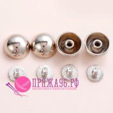 Кобурные кнопки, цвет серебро, 8 мм