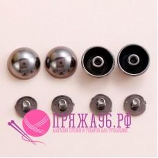 Кобурные кнопки, цвет темный никель, 8 мм