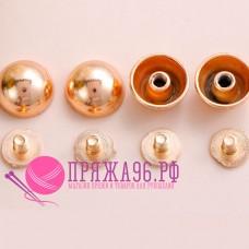 Кобурные кнопки, цвет золото, 8 мм