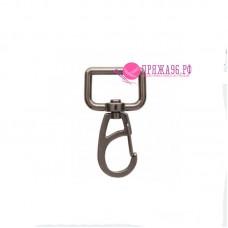 Карабин металлический, 4,8 × 2,8 см, цвет никель