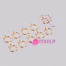 Карабин металлический круглый, d = 1,6 см, 2,5 × 2 см, цвет золотой