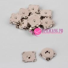 Кнопки магнитные пришивные, 18 мм, цвет серебряный