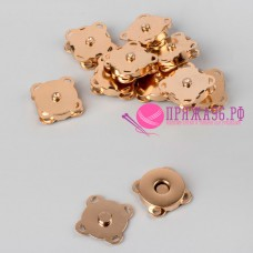 Кнопки магнитные пришивные, 18 мм, цвет золотой