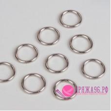 Кольца для сумок, d (внутр) = 20 мм, цвет серебряный