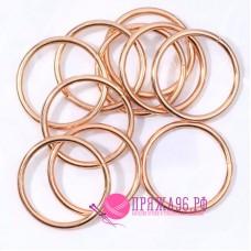 Кольца для сумок, d (внутр) = 20 мм, цвет золотой