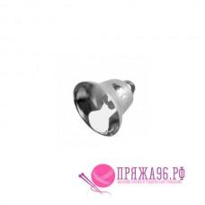 Колокольчик 14 мм, цвет серебряный, металл