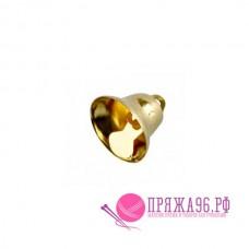 Колокольчик 16 мм, цвет золотой, металл