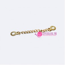 Вешалка-цепочка металлическая, 85 мм, цвет золотой