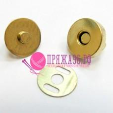 Защелка-магнит для сумок диаметр 18 мм золото