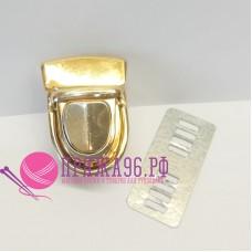 Застежка портфельная 40х30 мм, цвет золото