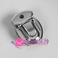 Застежка портфельная 25х34 мм, цвет серебро