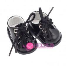 Ботинки для куклы, цвет черный, 5х2,8 см