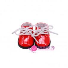 Ботинки для куклы, цвет красный с белыми шнурками, 5х2,8 см