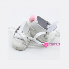 Ботинки-зайки для куклы, цвет белый, 5,5х2,8 см