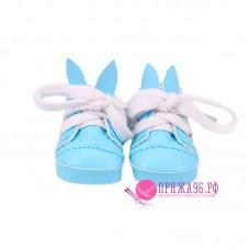 Ботинки-зайки для куклы, цвет голубой, 5,5х2,8 см