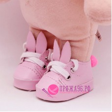 Ботинки-зайки для куклы, цвет розовый, 5,5х2,8 см