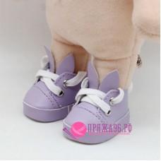 Ботинки-зайки для куклы, цвет сиреневый, 5,5х2,8 см