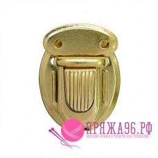 Застежка портфельная 25*34 мм, цвет золото