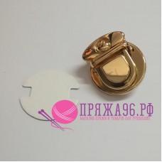 Застёжка для сумки, 3,5 х 3 см, цвет золото