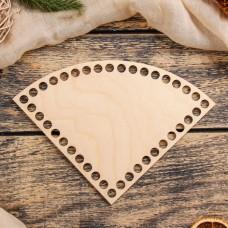 Четверть круга d=15 см, фанера 3 мм - Донышко для корзинки