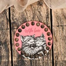 Круг d=10 см, фанера 3 мм - с котиками
