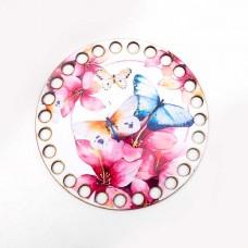 Круг d=12 см, фанера 3 мм - Летние бабочки