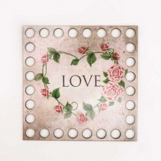 Квадрат 10 см, фанера 3 мм - Love