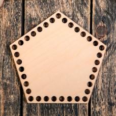 Пятиугольник 20 см, фанера 3 мм - Донышко для корзинки