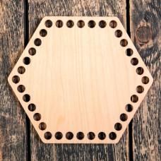 Шестиугольник 20 см, фанера 3 мм - Донышко для корзинки