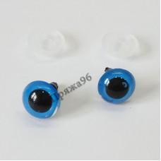Глазки для игрушек голубые на шурупе, d = 10 мм