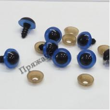 Глазки для игрушек голубые на шурупе, d = 14 мм