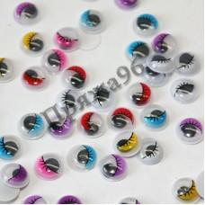 Глазки для игрушек цветные, d = 10 мм