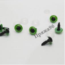 Глазки для игрушек зеленые на шурупе, d = 10 мм