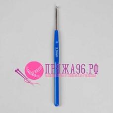 Крючок с синей пластмассовой ручкой 3 мм