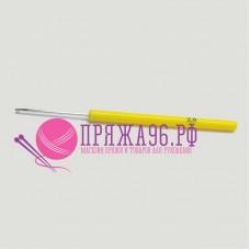 Крючок с пластиковой желтой ручкой 2,0 мм