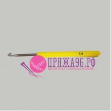 Крючок с пластиковой желтой ручкой 5,0 мм