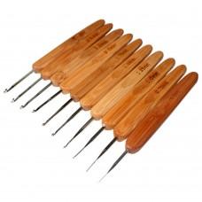 Крючок с плоской бамбуковой ручкой 1,0 мм