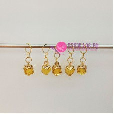 Маркеры для вязания, кубики желтые, 5 штук