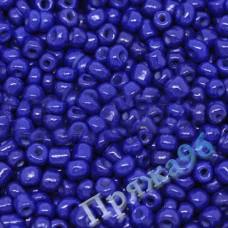 Бисер 6/0, цвет - синий (3-6), 10г