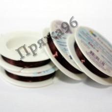 Проволока для бисероплетения в катушке, коричневая, 0,4 мм, 10 м